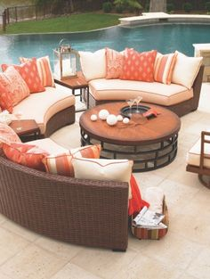 Tommy Bahama Outdoor Living Ocean Club Pacifica at retail in early 2013. Contemporary garden patio living home decor gardens plants flowers diy outdoor house