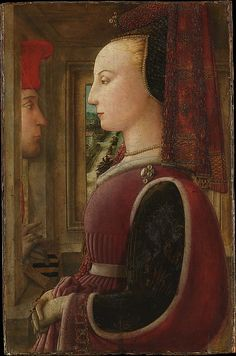 Fra Filippo Lippi (Italian, ca. 1406). Portrait of a Woman with a Man at a Casement, ca. 1440. The Metropolitan Museum of Art, New York. Marquand Collection, Gift of Henry G. Marquand, 1889 (89.15.19)