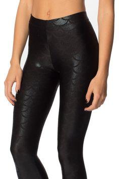 Mermaid Midnight Leggings (WW $80AUD / US $64USD) by Black Milk Clothing