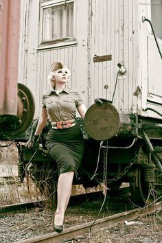 More militaria than pinup, but still arguably diesel.
