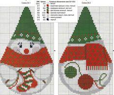 Новогодние игрушки на елку - Вышивка крестиком Схема для вышивки крестом - Ново