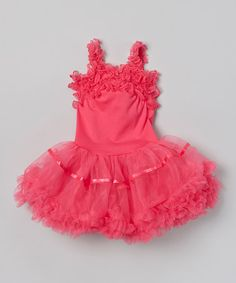 Hot Pink Pettidress - Infant, Toddler & Girls by Wenchoice #zulily #zulilyfinds