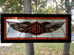 stained glass harley davidson | Harley | Stained glass | Pinterest