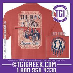 TGI Greek - Sigma Chi - Comfort Colors - Greek Apparel #tgigreek #sigmachi #comfortcolors #greektshirts #foundersday