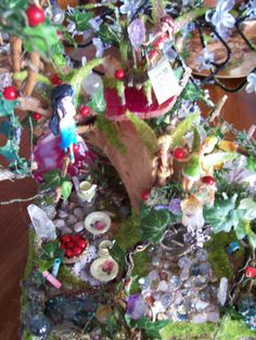 Fairy Tale Tree on Rock ~Story time on Agate crystal :)