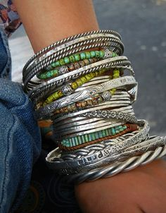 Striking, Stunning Stacking Bracelets by HappyGoLicky. Click & see! Coupon code PIN10 saves you 10% right now!