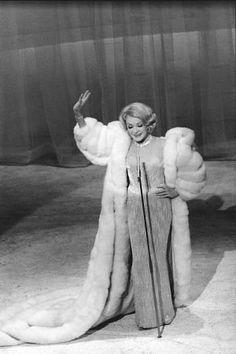 Marlene Dietrich's last performance in London, c. 1955.