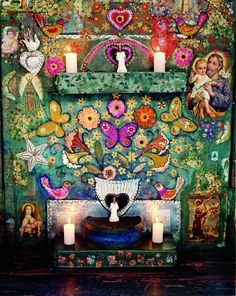 Uxua Casa Hotel, Brazil like the colors and patterns. likethe candles and the altar aspect of it. Bohemian Living, Modern Bohemian Decor, Bohemian Interior, Boho Decor, Bohemian Design, Modern Decor, Bohemian Style, Chinoiserie, Kitsch