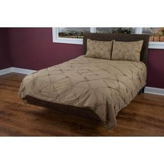Rizzy Home 1 Piece Quilight In Khaki And Khaki - (King Sham)