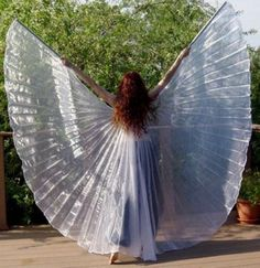White Lame Isis Wings