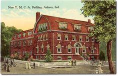 New Y. M. C. A. Building, Auburn, Indiana    Car photo