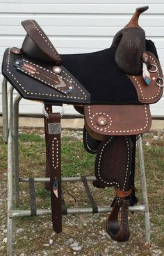 The most important role of equestrian clothing is for security Although horses can be trained they can be unforeseeable when provoked. Riders are susceptible while riding and handling horses, espec… Barrel Racing Saddles, Barrel Saddle, Barrel Racing Horses, Horse Gear, My Horse, Horse Riding, Riding Gear, Western Horse Tack, Western Saddles