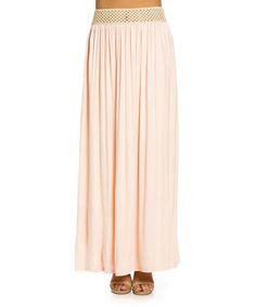 Another great find on #zulily! Blush Crochet Maxi Skirt #zulilyfinds