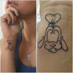 Disney Creative Signature Style Customized Goofy Tattoos