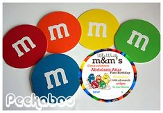 M & M´s Invitation Idea
