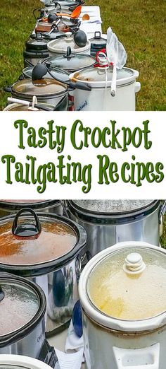 These are amazing crock pot tailgating recipes! These are perfect for any spor… These are amazing crock pot tailgating recipes! These are perfect for any sport of tailgating get together you could host, or take to a party. Crock Pot Food, Crockpot Dishes, Crock Pot Slow Cooker, Pressure Cooker Recipes, Crockpot Meals, Party Crockpot Recipes, Barbecue Recipes, Barbecue Sauce, Freezer Meals
