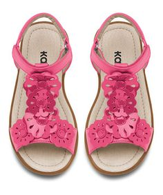 Love this KAI Hot Pink Flower Johanna Sandal by See Kai Run on #zulily! #zulilyfinds
