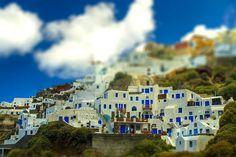 Santorini, Greece. Tilt shift photography travel #travel