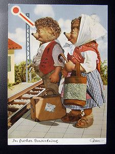 Mecki Postkarte AK farbig Diehl Film Hör Zu Gunkel Verlag Nr. 301 von 1964 #812c