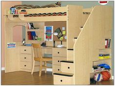 Bedroom:Loft Bed With Desk Underneath Plans Full Loft Bed With Desk Underneath
