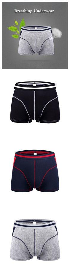 877982ac58d632 Men's Comfortable Breathable Modal Briefs Stitching Color Boxers U Convex  Underwear