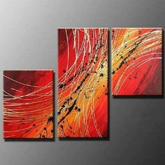 Acrylic Painting, Abstract Oil Painting, 3 Piece Wall Art, Abstract Painting for Sale - Art Painting Canvas Living Room Canvas Painting, Canvas Paintings For Sale, Modern Art Paintings, Hand Painting Art, Oil Painting Abstract, Acrylic Painting Canvas, Online Painting, Painting For Sale, 3 Piece Painting