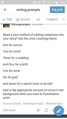 Crow counting rhyme