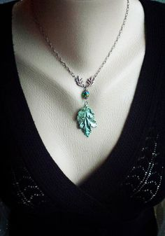Silvan Leaf necklace silver plated real leaf by SilvarisRose  #leaf #elven #elvish #woodelf #woodland #forest #fairy #jewelry #necklace #silvarisrose