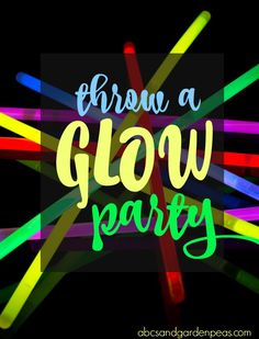Throwing a summer glow party? Here's a list of glow products that will take the fun way past simple glow sticks! Just think of the electricity you'll save! Summer Glow, Summer Fun, Glow Party, Get The Party Started, Summer Parties, Birthday Party Themes, Neon Signs, How To Make, Summer Fun List