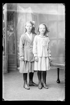Portrait of two girls, c. 1920--Public Record Office of Northern Ireland