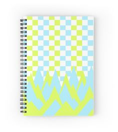 'Fancy in yellow and blue' Spiral Notebook by cocodes Notebooks, Beautiful Things, Yellow, Blue, Fancy, School, Paper, Design, Notebook
