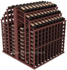 """Wooden 440 Bottle Triple Reveal Aisle Wine Cellar Rack Storage Kit in Mahogany with Cherry Stain + Satin Finish by Wine Racks America®. $2133.78. Easy-edge Bottle Holders:Measuring 11/16"""" x 11/16"""" x 12 5/16"""" long - thicker and longer than the competition and your wine bottle labels won't tear because of the smooth, hand-sanded edges where the bottles lay.. Create endless wine displays and aisle ways. 100% Lifetime Warranty backed by our Price Match Guarantee!. Standard ..."""