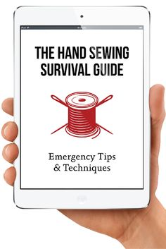 The Hand Sewing Survival Guide | Don't be caught unprepared! Learn and master survival sewing skills in just minutes. Includes a 30 pages of in-depth, step-by-step illustrated instructions get you sewing in minutes. Get your FREE EBOOK at http://mysewingkit.com/ebook1/ | Hand Sewing Tips + Tricks