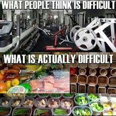 Gezond eten is inderdaad moeilijker dan sporten!