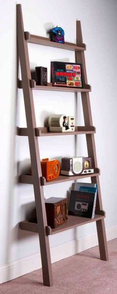 How to make a leaning shelf for just $30. #DIY (Photo: Bill Vuehlke, (Ridiculously Simple Furniture Projects)