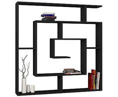 Книжный шкаф Labirent - ДСП - черный, 125x125x22 см