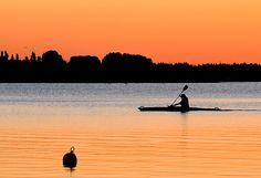Kayak outside Jyllinge in Roskilde fjord, Denmark