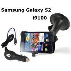 KFZ Autohalterung für Samsung Galaxy S2 i9100 + Ladegerät
