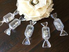 12 Candy Sugar Shaped Clear Plastic Box  Bridal Party Favors 1st Communio  | eBay Baptism Favors, Mason Jar Wine Glass, Party Favors, Plastic, Sugar, Shapes, Candy, Bridal, Box