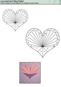 Iris Folding Patterns Free Printables | Home : Iris Folding : Love & Romance : Heart 1 Iris Folding Pattern
