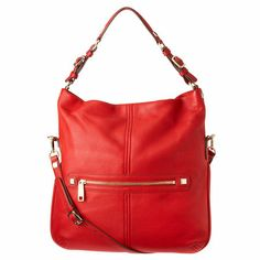 """Love the Aiden HOBO? Then you'll love the new Nolita! Pebbled leather HOBO with metal hardware. Features single over the should strap as well as removable/adjustable cross-body strap. Metal zip top closure. Inside features single zip and dual slip pockets. Measures approx. 15"""" L x 16"""" H x 1"""" D. We only recommend the use of quality leather care products. Always store your leather handbag in the dust bag provided when not in use."""