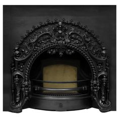 UKAA buy and sell New Carron Victorian Rococo Black Finish Cast Iron Fireplace Inserts online and for sale in our architectural salvage and reclamation yard in cannock wood staffordshire. Gothic House, Victorian Gothic, Victorian Homes, Cast Iron Fireplace Insert, Fireplace Inserts, Gothic Interior, Gothic Home Decor, Rococo, Baroque