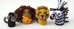 Finger puppets - great basket filler! Free crochet patterns!