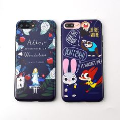 Newest Cute cartoon Alice's Adventures in Wonderland pattern Soft TPU cover case for iphone 6 6s 6plus 6splus 7 7plus phone case
