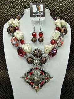 Red / White Chunky Western Cowgirl by CayaCowgirlCreations on Etsy, $58.50