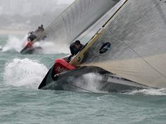 Fly! Emitates team new zealand training for America's cup