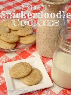 Soft Snickerdoodle Cookies on MyRecipeMagic.com