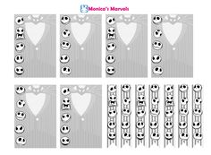 """""""sticker kit"""" Nightmare Before Christmas Checklist (the happy planner by MAMBI) sticker. Free printable sticker layout may be subject to copyright not intended for retail; personal use only"""