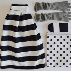 stripes and dots My Outfit, Dots, Stripes, My Style, Skirts, Outfits, Fashion, Stitches, Moda