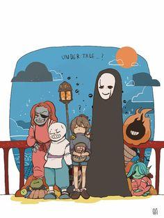 Studio Ghibli and Undertale crossover Undertale Comic, Undertale Love, Undertale Drawings, Undertale Ships, Undertale Fanart, Funny Undertale, Studio Ghibli, Cartoon Crossovers, Toby Fox